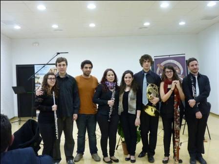 Algunos músicos de la Unió Musical de Moncada.