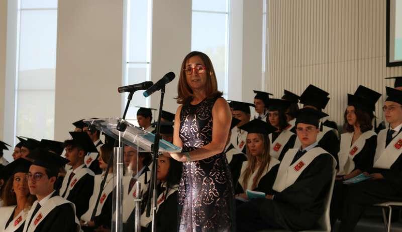 Carmen Spinola, Directora de Ikea Valencia, madrina de la 19ª promoción de graduados de Caxton College. epda
