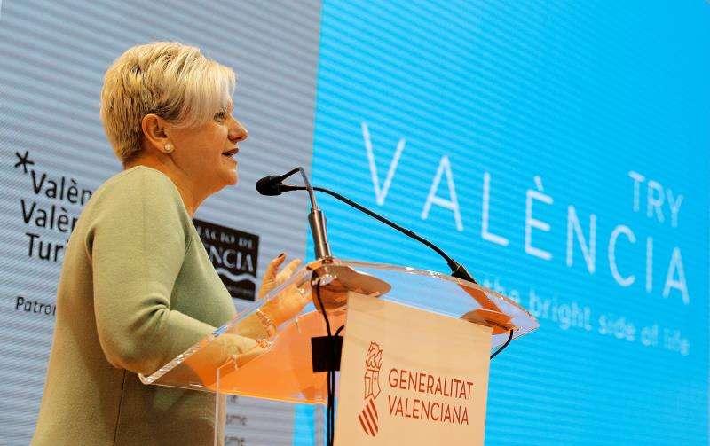 El Patronat de Turisme de València presenta en la feria Fitur las acciones turísticas València Turisme 2019. En la imagen, la diputada de Turismo de la Diputación de Valencia, Pilar Moncho. EFE