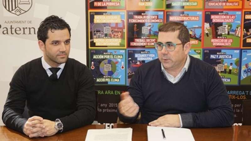Sagredo y Buyolo, en la presentación en Paterna. EPDA