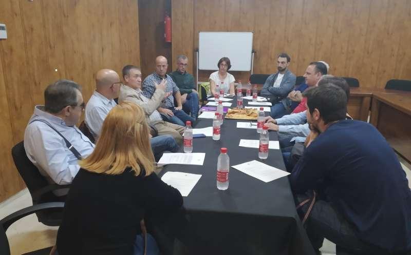 Empresarios y empresarias del polígono industrial del municipio. EPDA