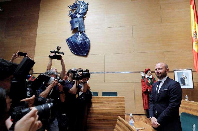 El socialista Toni Gaspar ha sido elegido este miércoles presidente de la Diputación de Valencia. EFE