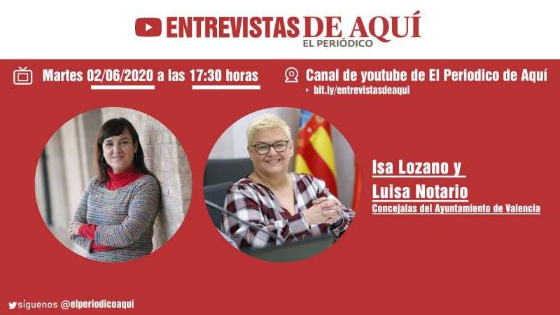 Isa Lozano y Luisa Notario, martes 2 de junio.