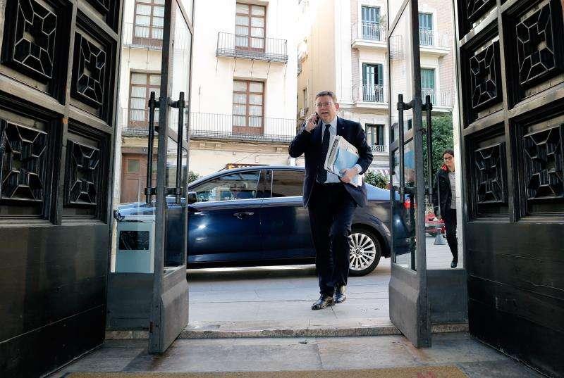El president de la Generalitat, Ximo Puig, a su llegada al Palau. EFE/Archivo