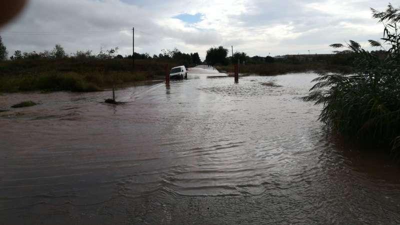 Estado de la carretera por Vinalesa. EPDA