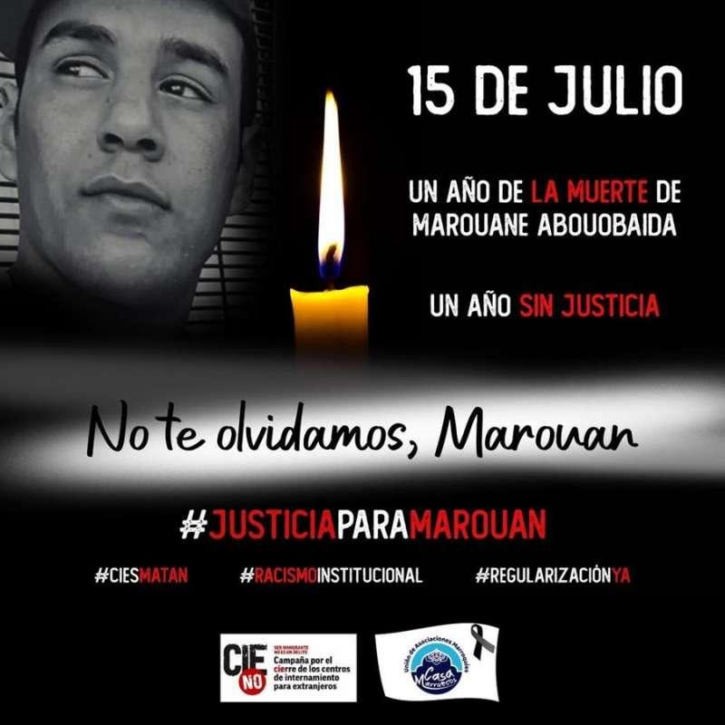 Imagen publicada por CIE NO en sus redes sociales de la muerte del joven marroquí de 23 años Maouane Abouobaida en el Centro de Internamiento de Extranjeros de la calle Zapadores de València.