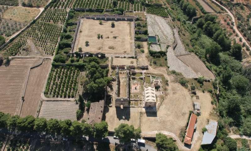 Vista aérea del conjunto cartujano