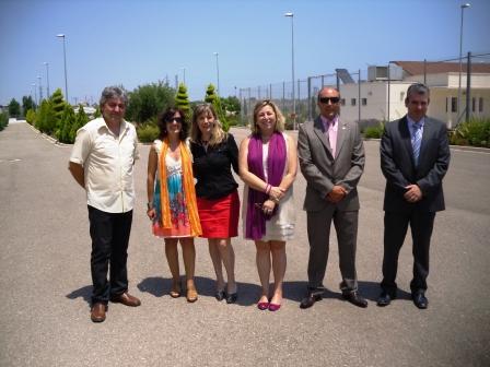 Lucía Cerón visita el centro de reeducación Jaume I de Picassent. Foto EPDA