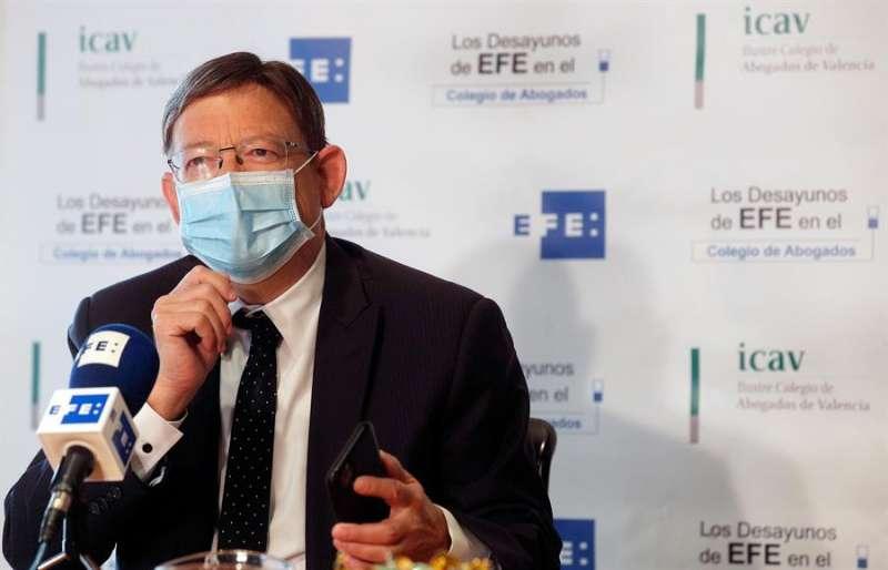 El president de la Generalitat, Ximo Puig, en Los Desayunos de la Agencia EFE