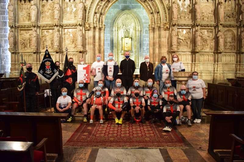 Llegada a la capilla del Santo Cáliz de Valencia