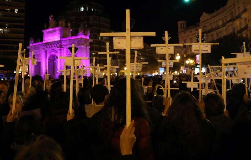 Manifestación en València contra la violencia machista. EFE/Ana Escobar