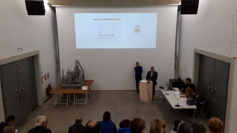 Presentación de los presupuestos en el Horno Alto de Port de Sagunt. EPDA