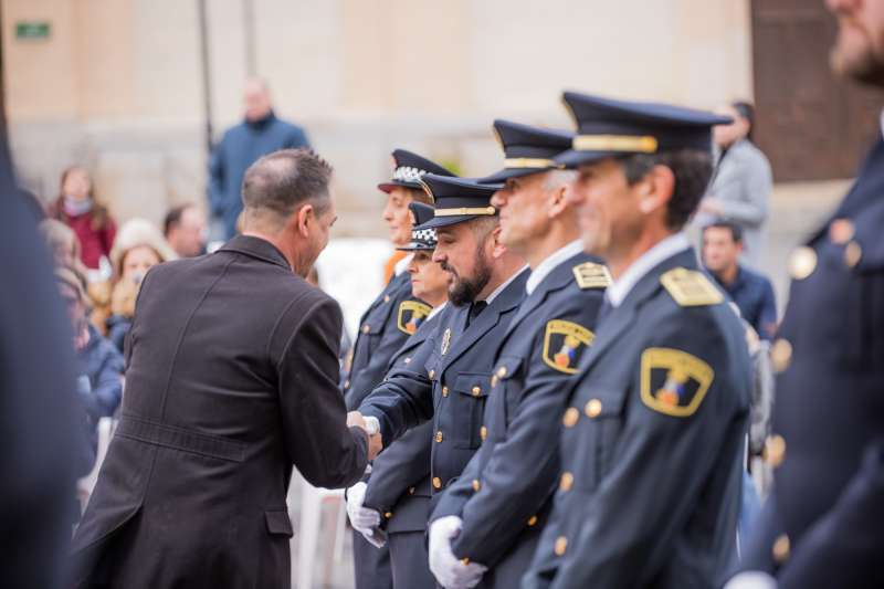 Reconocimiento a la Policía en Riba-Roja. EPDA