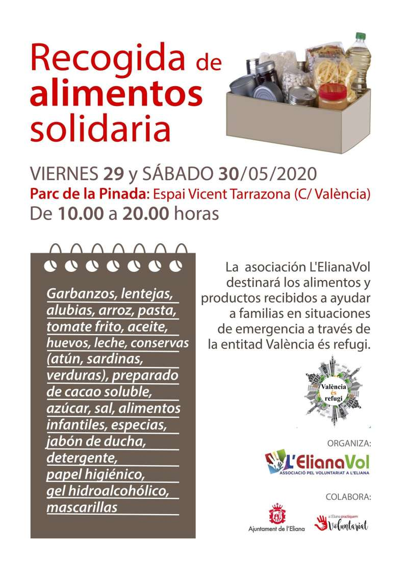 Cartel explicativo de la recogida de alimentos. / EPDA