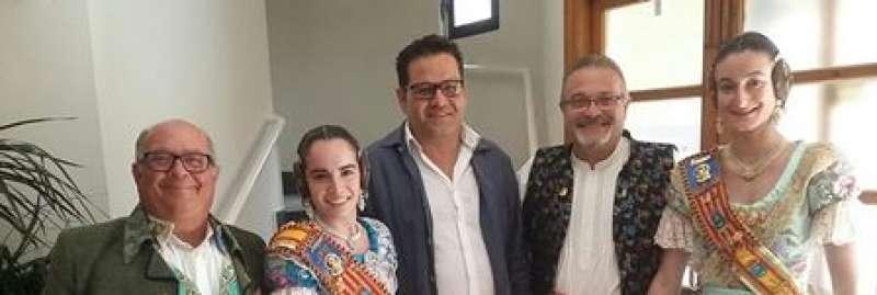Representantes de las fallas de Sedaví. EPDA