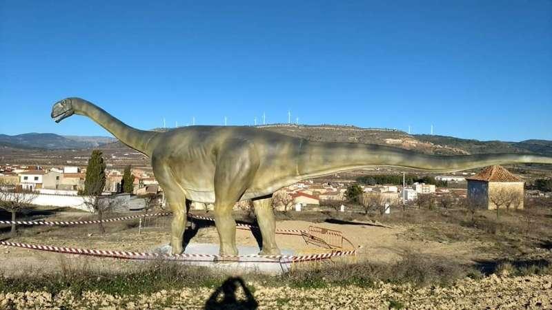 Réplica del dinosaurio
