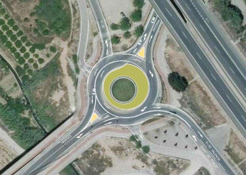 Imagen cedida por el Ayuntamiento de Manises de la rotonda. EFE