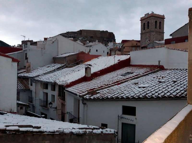 Nieve sobre los tejados de Bejís. Foto: B.Martín