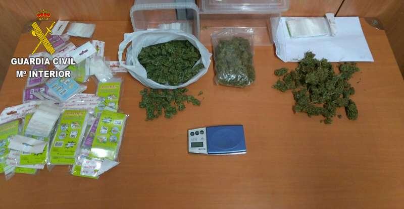 La marihuana incautada.//EPDA
