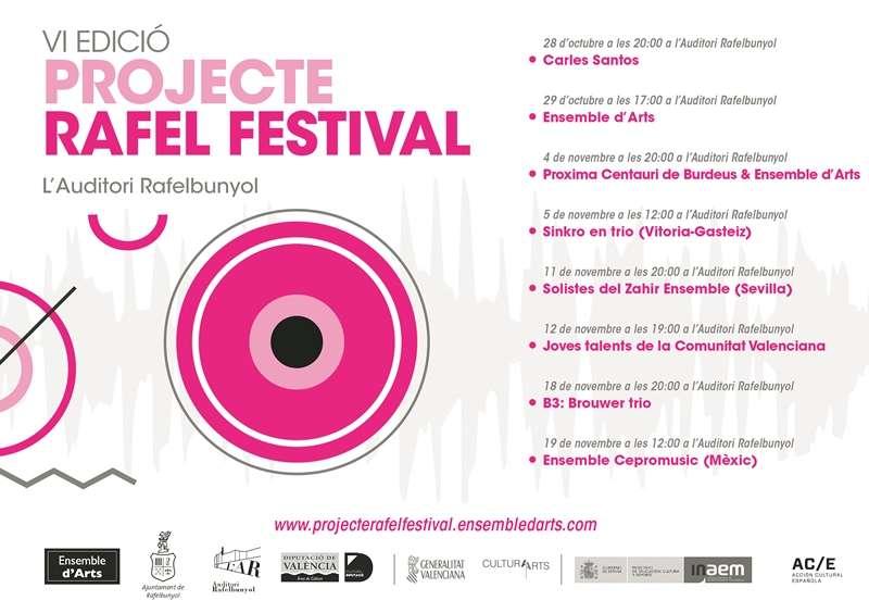 Cartell del Projecte Rafel Festival. EPDA