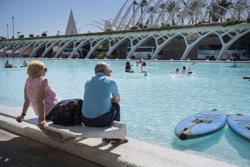 Acividades acuáticas en la Ciutat de les Arts i les Ciències de València. EPDA
