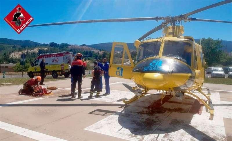 Imagen del rescate cedida por el Consorcio de Bomberos de Alicante.