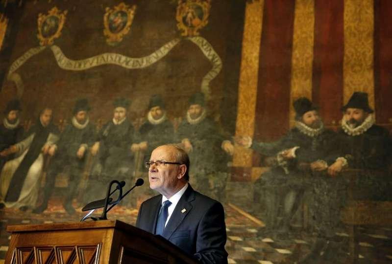 El presidente de la Academia Valenciana de la Llengua (AVL), Ramón Ferrer Navarro. EFE