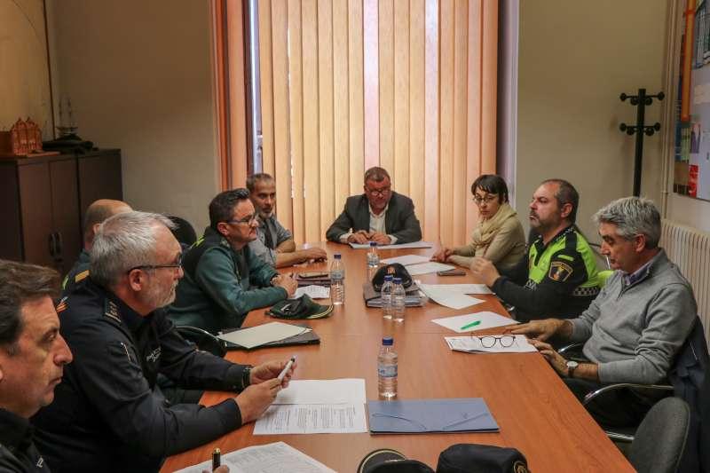 Junta de Seguridad en el ayuntamiento de Sagunt. EPDA