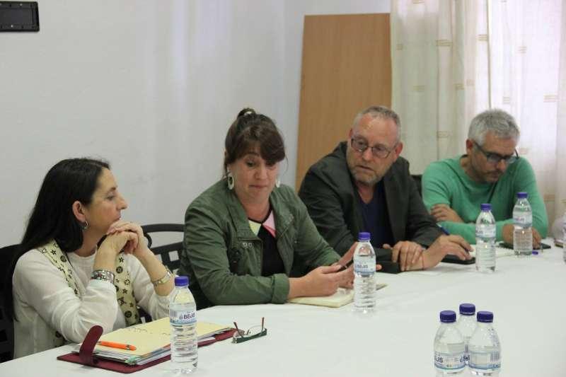 Alemany a la reunió amb els representrants de les urbanitzacions. //EPDA