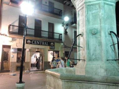 Fuente de la Plaza Mayor de la Font de la Figuera. Foto: EPDA
