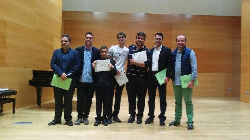 Ganadores de viento metal del Concurso de Internacional de Jóvenes Intérpretes