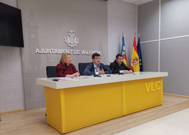 Los concejales Picó, Giner y Estellés
