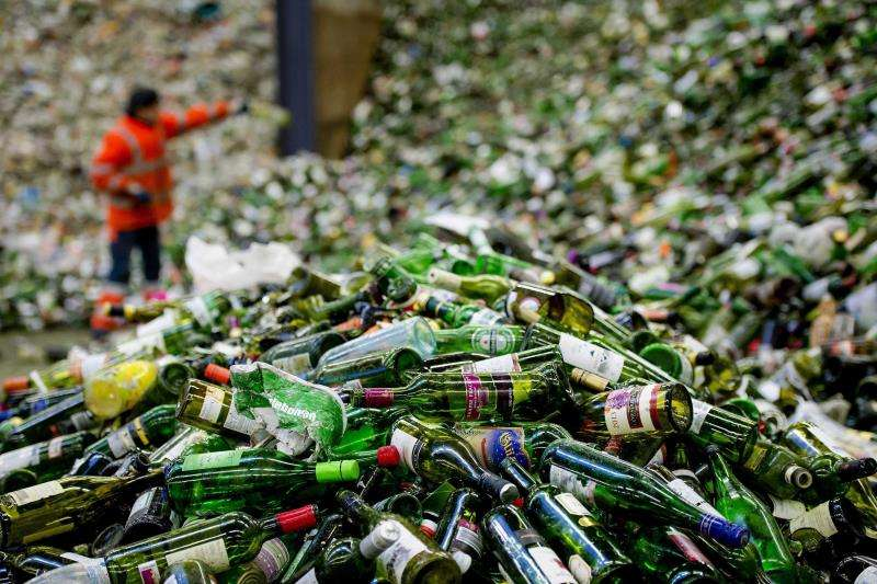 Una planta de reciclaje de vidrio. EFE/Archivo