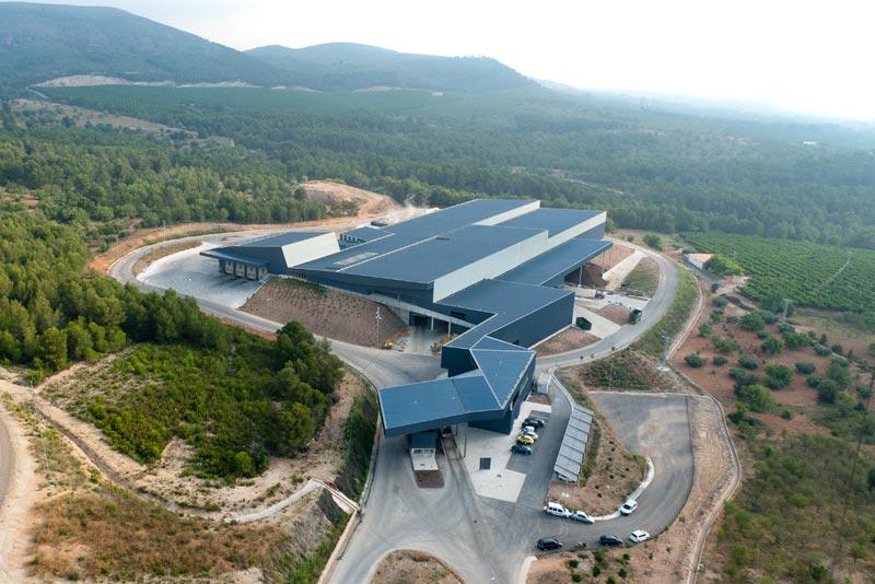 Vista aérea de la planta de residuos de Algímia d