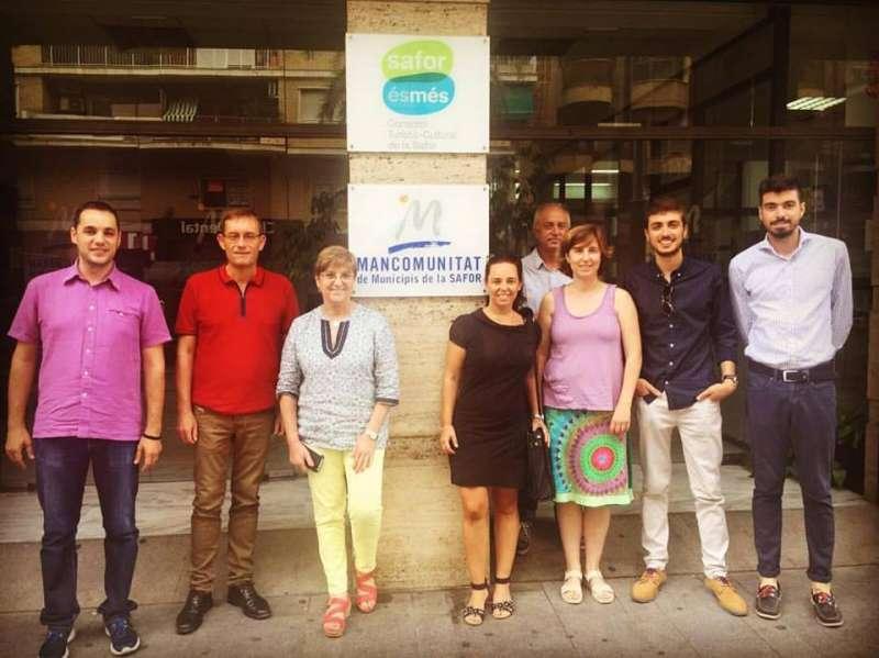 Moment de la reunió comarcal La Safor