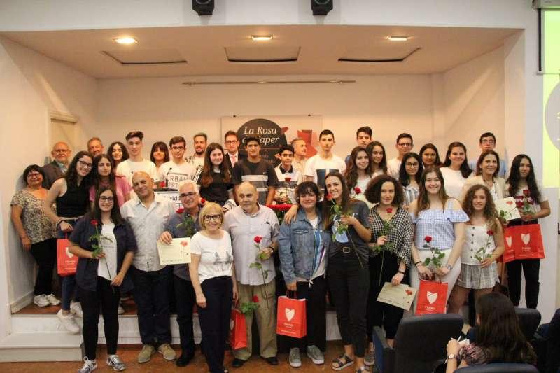 Imatge de grup dels premiats