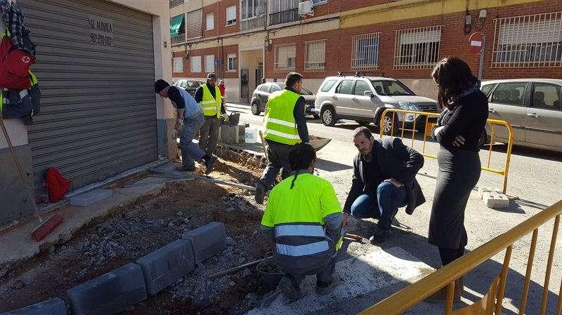 Obres al barri de Sant Roc de Silla. EPDA
