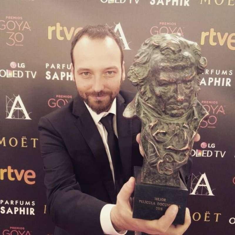 El director y realizador alicantino Alfredo Navarro, Goya en 2016 a la mejor película documental por