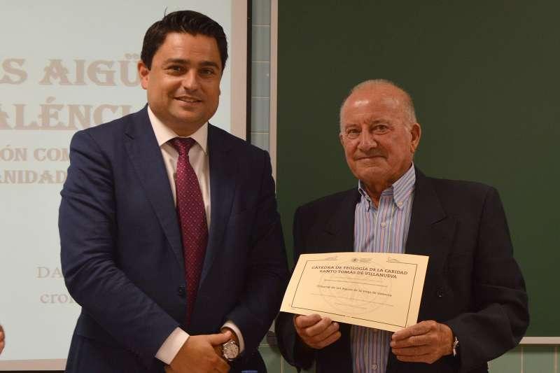 El rector de la UCV, José Manuel Pagán, junto al vicepresidente de la milenaria institución valenciana, Ricardo Berenguer. UCV