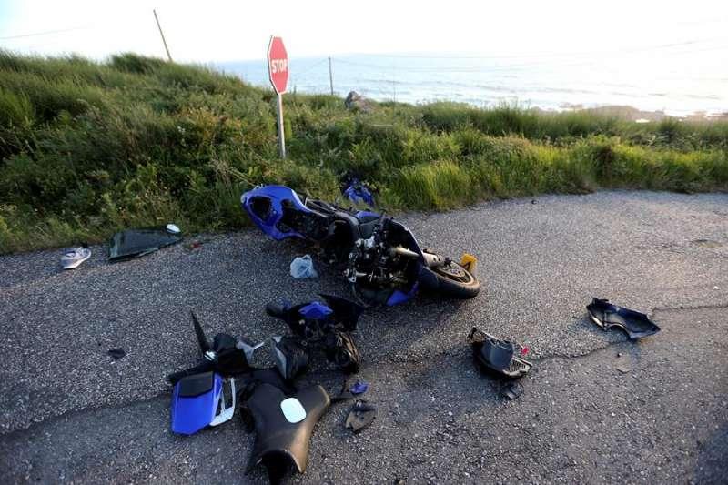 Imagen de archivo de un accidente de moto. EFE/Archivo