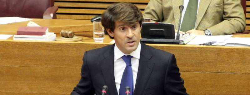 El diputado del Grupo Parlamentario Popular en Les Corts, Juan de Dios Navarro