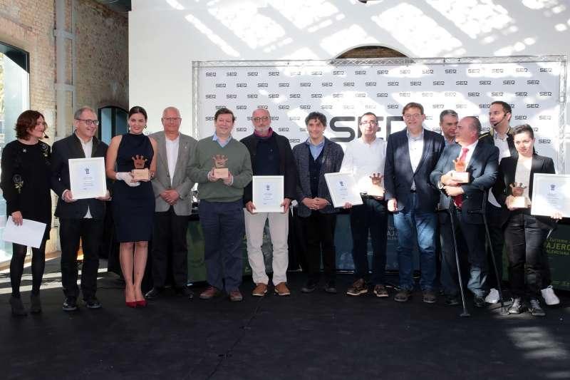 Puig y Colomer en la gala de premios del Turismo en la Cadena Ser de Dénia.