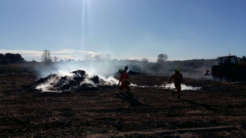 Dos persones investigades com a sospitoses de provocar incendis forestals a Vilamarxant