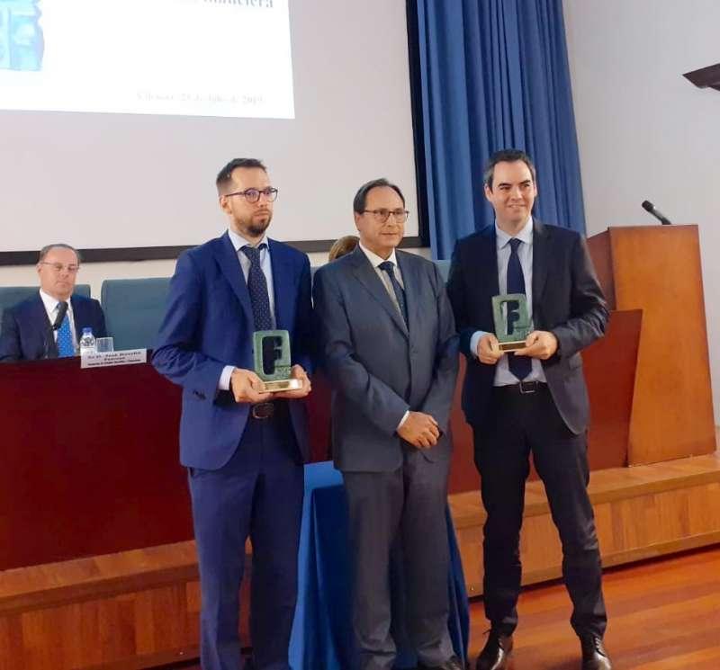 Vicent Soler durante la gala de Premios a la Divulgación Financiera