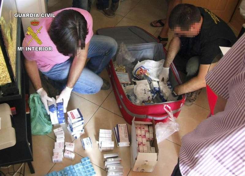 Imagen de una operación contra el tráfico ilegal de medicamentos. EFE/Archivo