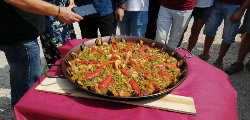 Paella realizada con una de las recetas del siglo pasado. EPDA