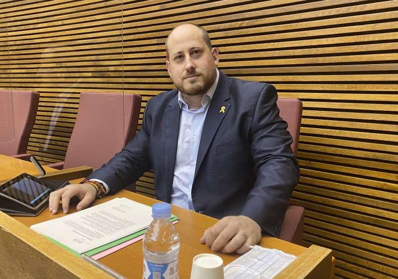 El diputado del Grupo Parlamentario VOX Comunidad Valenciana, David García.
