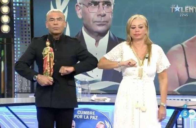 Jorge Javier y Belén Esteban el pasado martes. TELECINCO