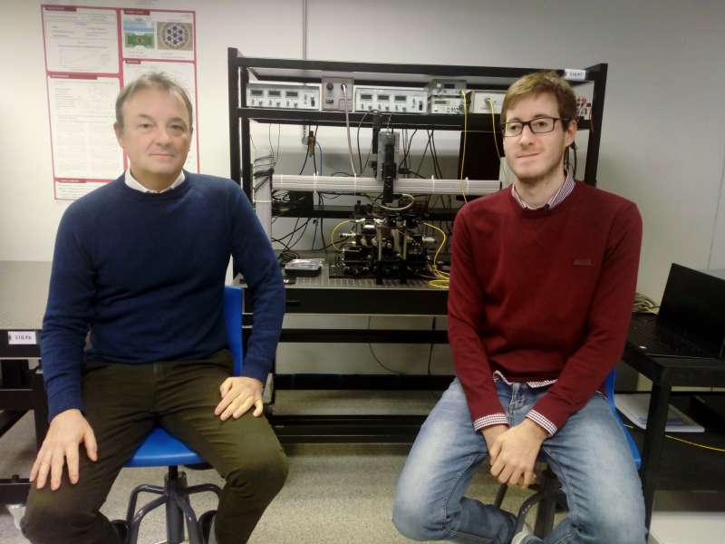 José Capmany y Dani Pérez investigadores del Photonics Research Labs (PRL) del iTEAM UPV.