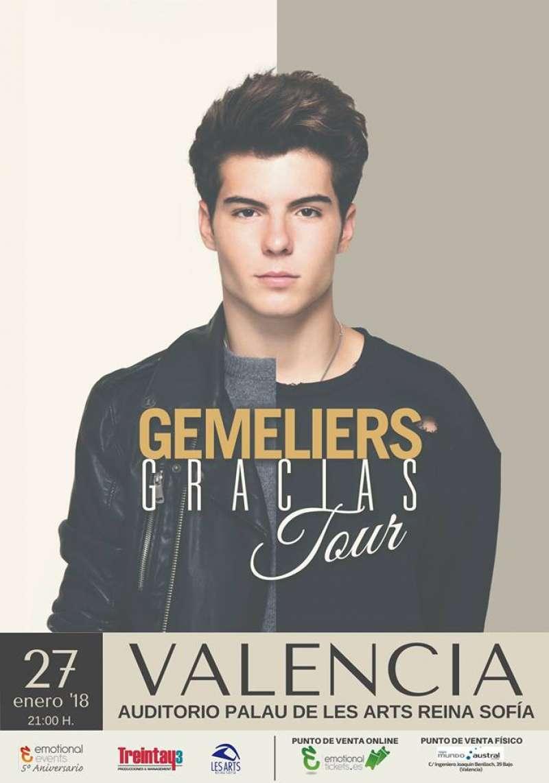 Cartel del concierto en València.